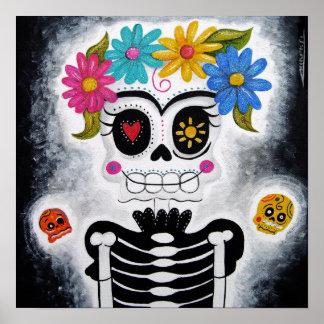 La IMPRESIÓN florida del cráneo Posters