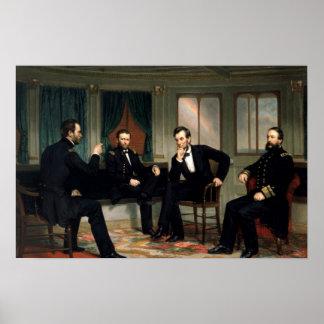 La impresión histórica de Abe Lincoln de los pacif Póster