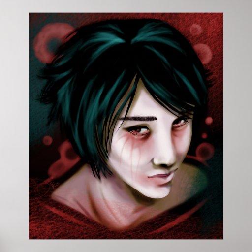La impresión joven del muchacho del vampiro poster