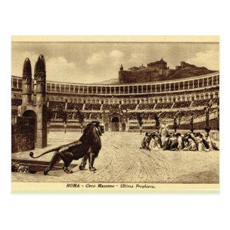 La impresión, los leones y los cristianos del tarjetas postales