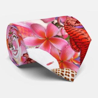 La impresión tropical florece el lazo de la vida corbatas