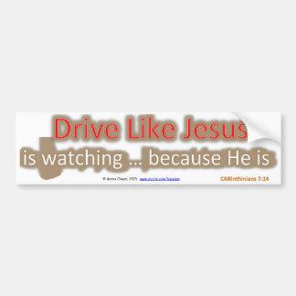 La impulsión como Jesús es reloj… porque él es Pegatina Para Auto