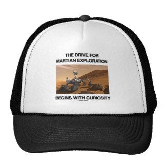 La impulsión para la exploración marciana comienza gorro