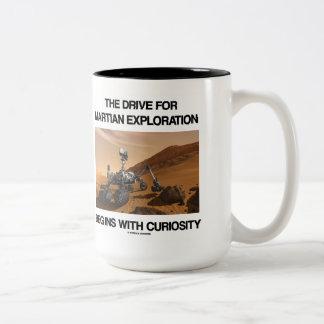 La impulsión para la exploración marciana comienza taza de café