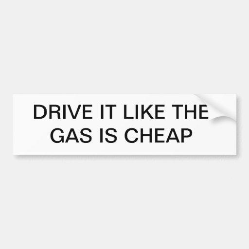 La impulsión que tiene gusto del gas es barata etiqueta de parachoque