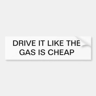 La impulsión que tiene gusto del gas es barata pegatina para auto