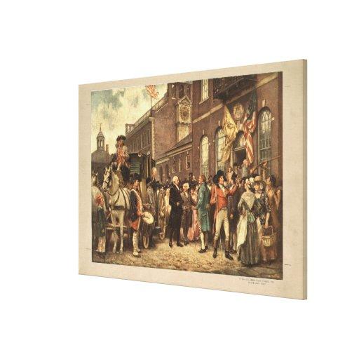 La inauguración de Washington en Philadelphia Lienzo Envuelto Para Galerías