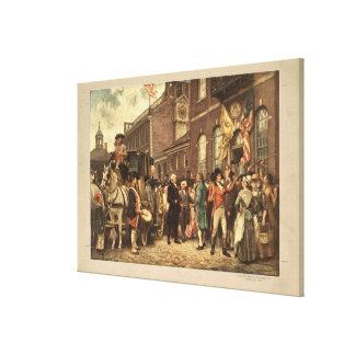 La inauguración de Washington en Philadelphia Lona Estirada Galerías