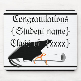 La inclinación del casquillo del graduado con la e alfombrillas de ratón