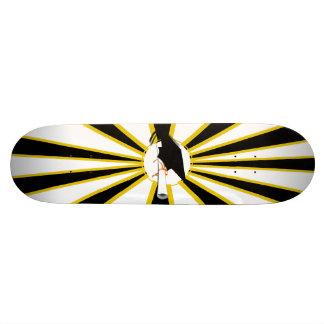 La inclinación del casquillo del graduado con la tablas de skate