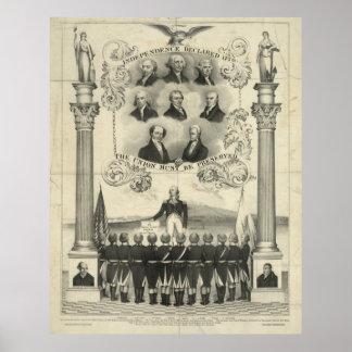 La independencia declaró 1776 impresiones