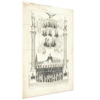 La independencia declaró Litho 1776 de Thomas Impresion De Lienzo