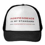 La independencia es mi estándar gorros