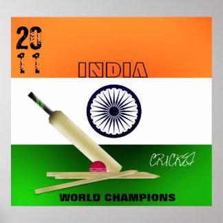 La India 2011 impresiones del poster de los campeo