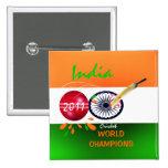 La India 2011 mundiales del grillo ICC defiende el Pin