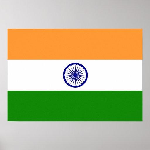 La India; Bandera india Póster