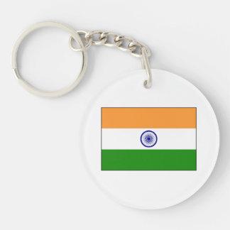 La India - bandera nacional india Llavero Redondo Acrílico A Doble Cara