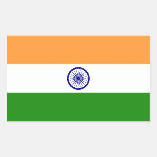 La India - bandera nacional india Pegatina Rectangular