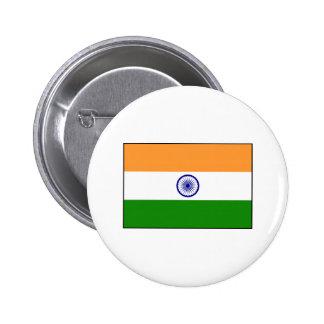 La India - bandera nacional india Pin Redondo 5 Cm