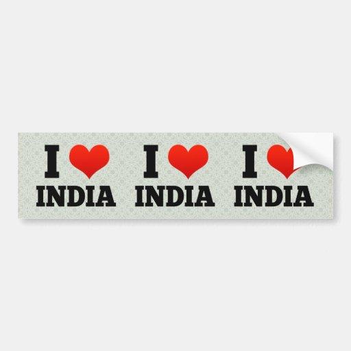 La India Etiqueta De Parachoque