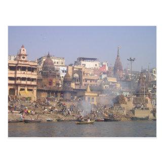 La India el río Ganges Postal