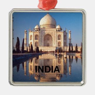 La India el Taj Mahal Angie Adorno Navideño Cuadrado De Metal