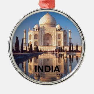 La India el Taj Mahal Angie Adorno Navideño Redondo De Metal