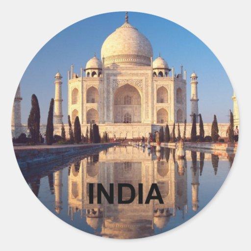 La India el Taj Mahal Angie Pegatina