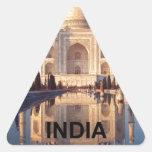 La India el Taj Mahal Angie Pegatina Triangular