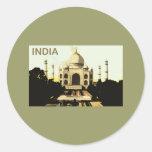 La India el Taj Mahal Pegatinas Redondas