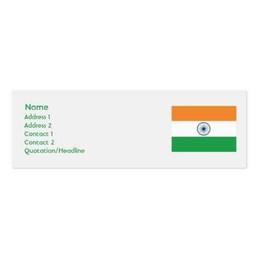 La India - flaca Plantillas De Tarjetas De Visita