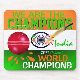 La India ICC somos el grillo Mousepad de los campe Tapetes De Ratón