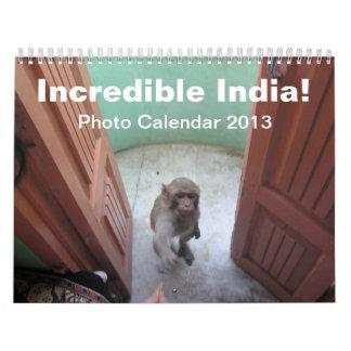 ¡La India increíble! - Calendario 2013 de la foto