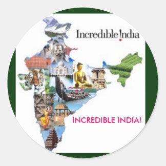 ¡la India increíble, la INDIA INCREÍBLE! Pegatina Redonda
