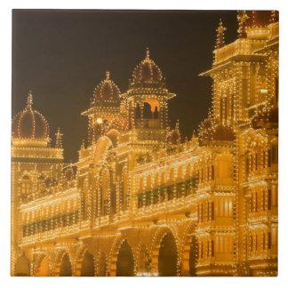 La INDIA, Karnataka, Mysore: El palacio de Majaraj Azulejo Cuadrado Grande