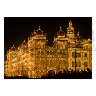 La INDIA, Karnataka, Mysore: El palacio de Majaraj Tarjeta De Felicitación