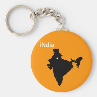 la India Llavero Redondo Tipo Pin