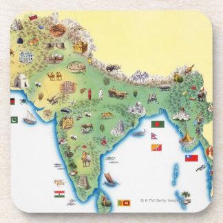 La India, mapa con mostrar de los ejemplos