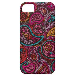 La India oriental colorida Paisley iPhone 5 Carcasa