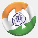 La India Pegatina Redonda