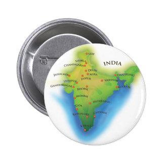 La India Pin Redondo De 2 Pulgadas