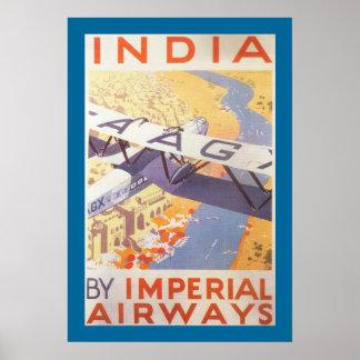 La India por Imperial Airways Posters