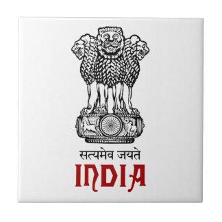 La INDIA - sello/emblema/blasón/escudo de armas Tejas Cerámicas