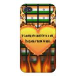la India, si el amor de mi país es un pecado iPhone 4 Carcasas