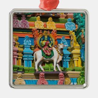 La INDIA, Tamil Nadu, Chennai: Kapaleeshwarar Adorno Navideño Cuadrado De Metal