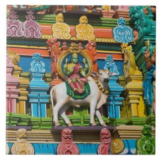 La INDIA, Tamil Nadu, Chennai: Kapaleeshwarar Azulejo Cuadrado Grande