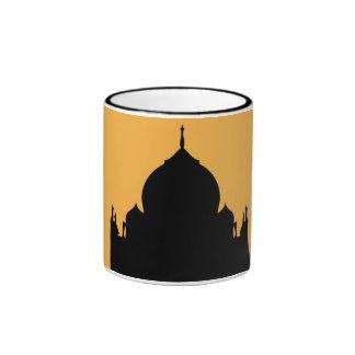 La India Taza de la silueta del Taj Mahal