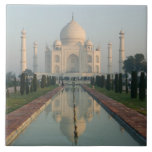 La INDIA, Uttar Pradesh, Agra: El Taj Mahal, mañan Azulejo Cuadrado Grande