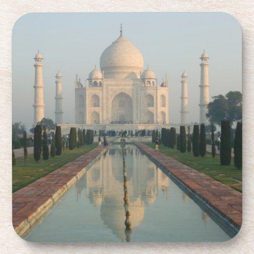 La INDIA, Uttar Pradesh, Agra: El Taj Mahal, mañan Posavasos De Bebida