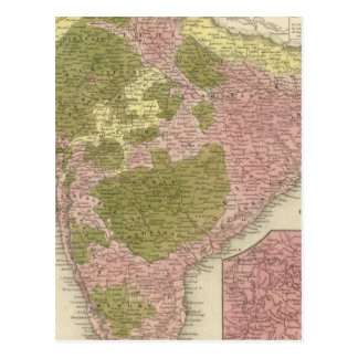 La India y Sri Lanka Tarjeta Postal